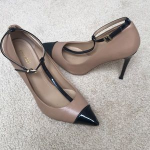 Express Heels Black and Taupe